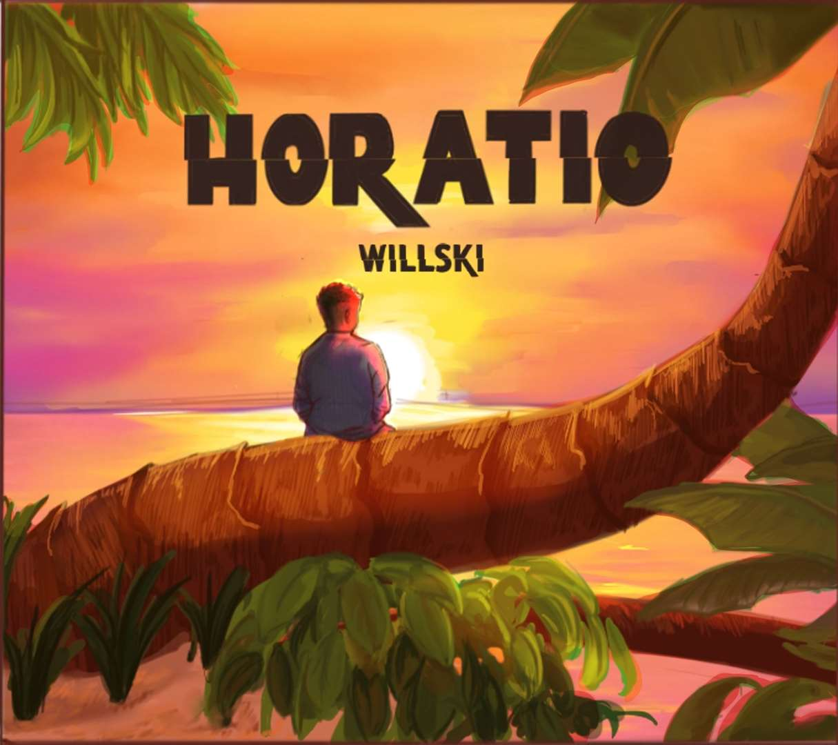 The back cover of Will Perry's first album 'Horatio', which will be released on his 21st birthday on Friday, July 3. Picture: SUBMITTED
