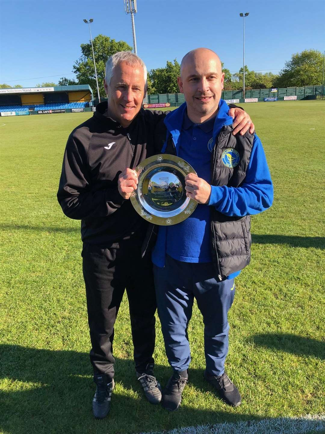 King's Lynn Town manager Ian Culverhouse with director of football Robbie Back. (10092302)
