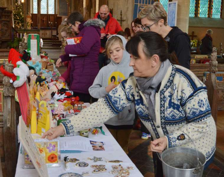 HARPLEY CHURCH ANGEL FESTIVAL'The sale of crafted Christmas presents proved popular