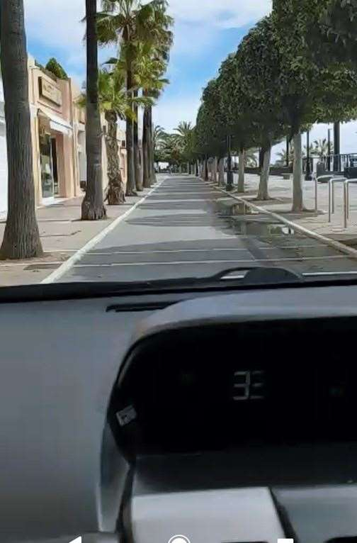 This picture was sent in by Graham Edwards showing how empty the streets were in Spain last week(32301810)