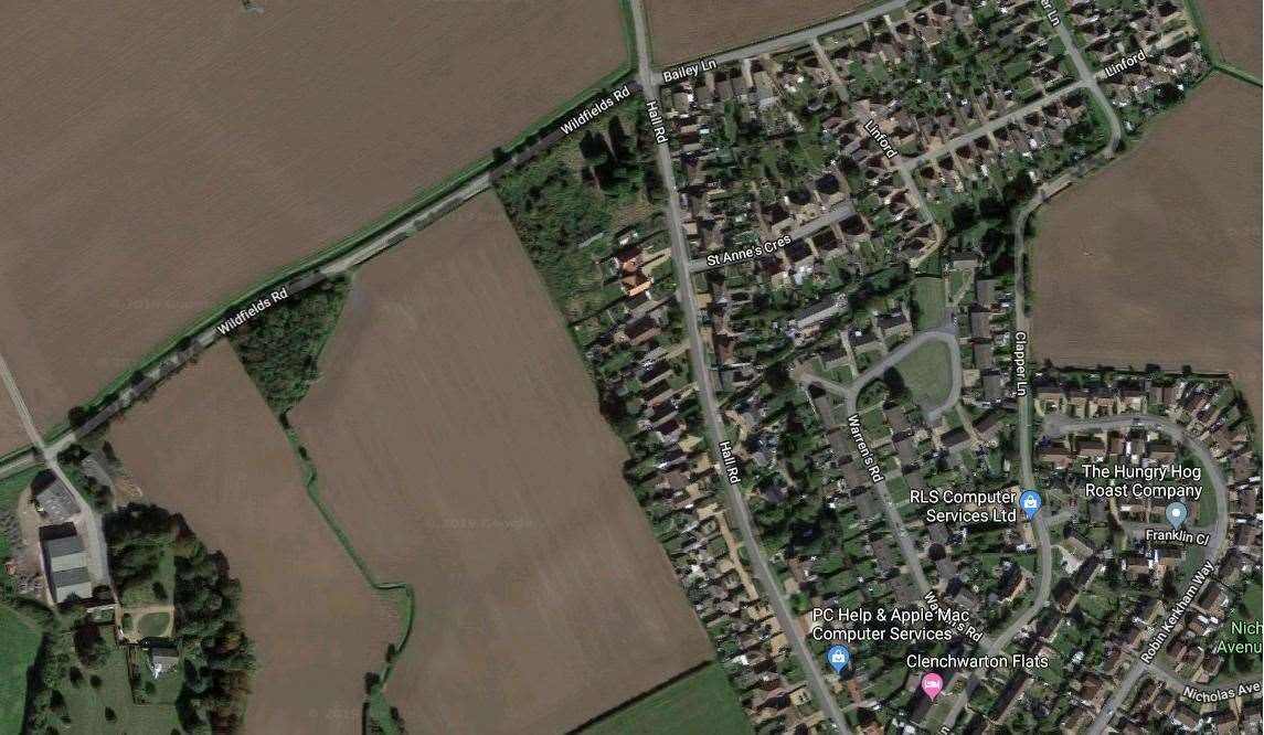 The area where housing has been approved. Picture: Google Maps
