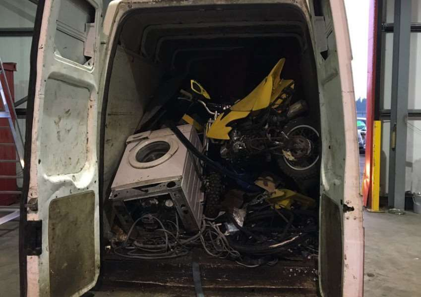 Police stopped this van on the A17 near Lynn and arrested three men on suspicion of scrap thefts. Photo: King's Lynn Police.
