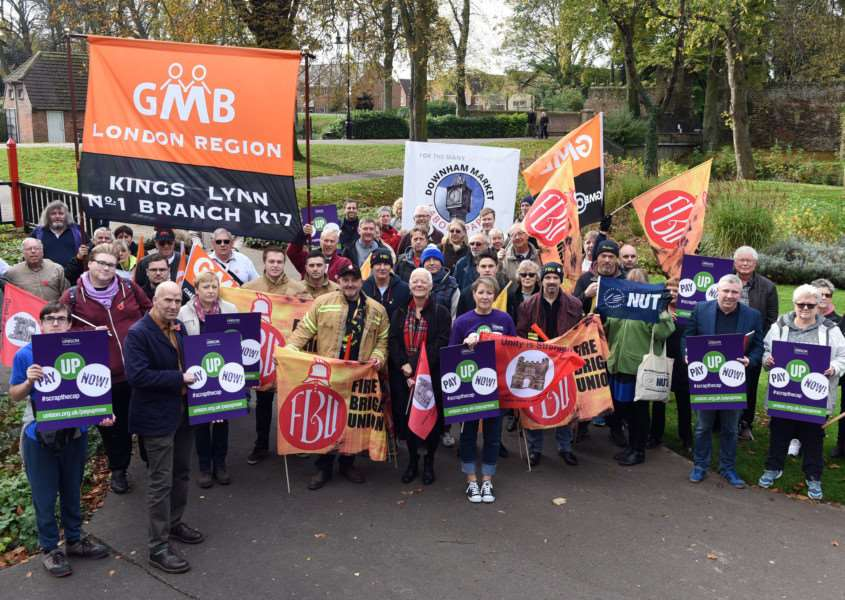 Britain Needs a Pay Rise march and rally at the Walks bandstand