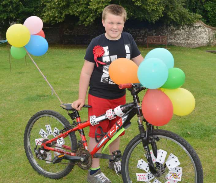 BURNHAM MARKET FLOWER SHOW AND CARNIVAL'Jack Hawkins had the Best Decorated Bike