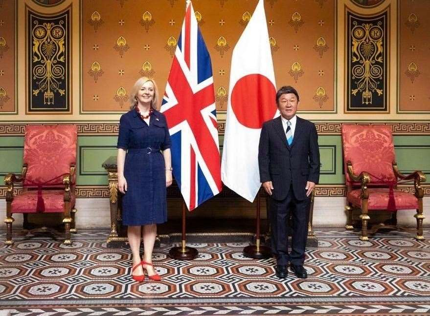 Liz Truss MP has agreed in principle the free trade deal with Japan (42217320)