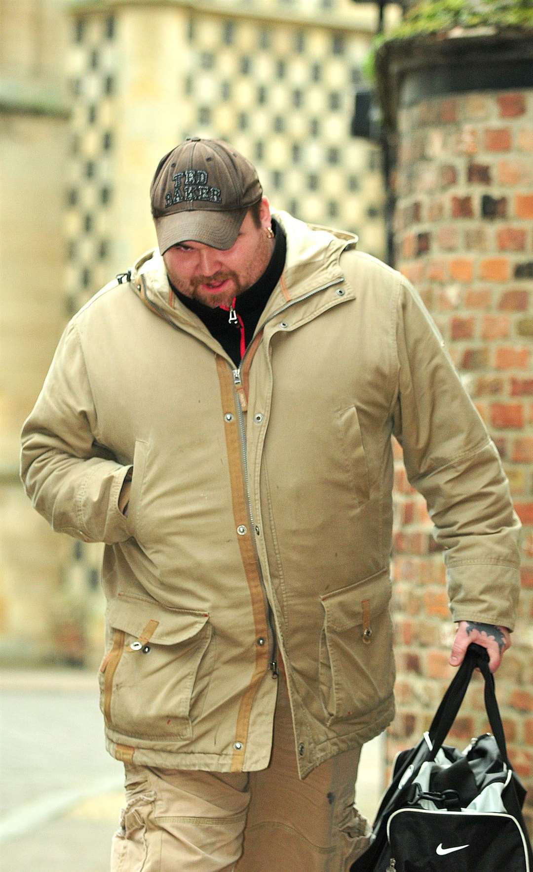 £9million national lottery winner Michael Carroll arrives at King's Lynn magistrates court.. (21042649)