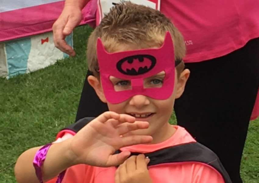 Callum Boldero, 6, who completed Race For Life to raise money for Cancer Research UK. Photo: SUBMITTED.
