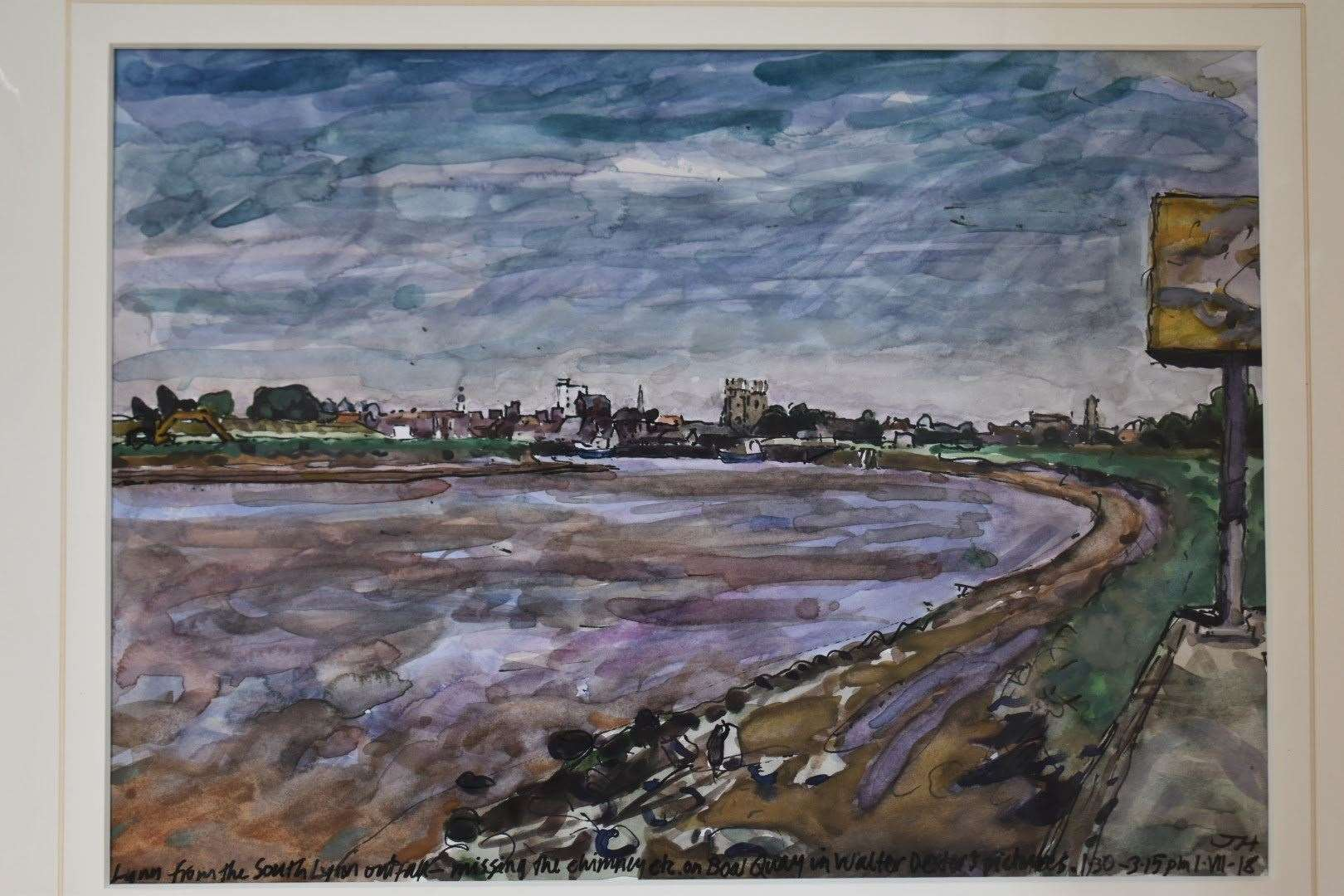 Jon's work below shows King's Lynn, South Quay, Boal Quay and Minster seen from one of famed ynn artist Walter Dexter's favoured spots on the banks of the River Ouse at South Lynn. (8696484)
