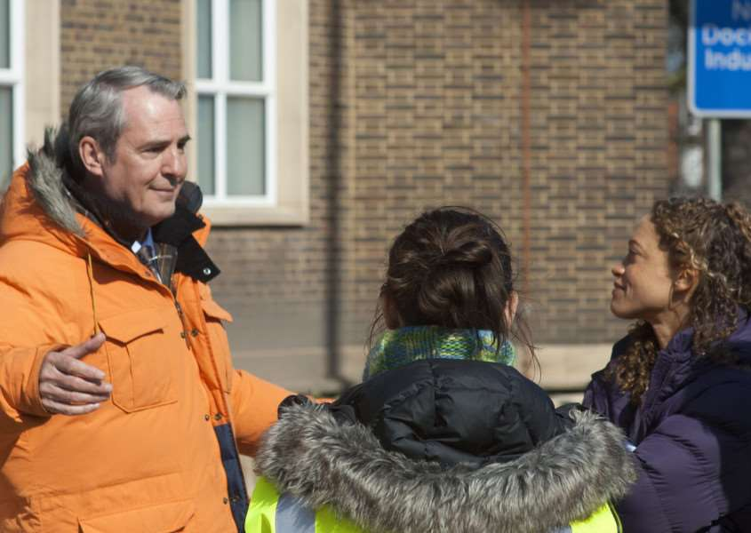 Actor Neil Morrissey filming in King's Lynn.