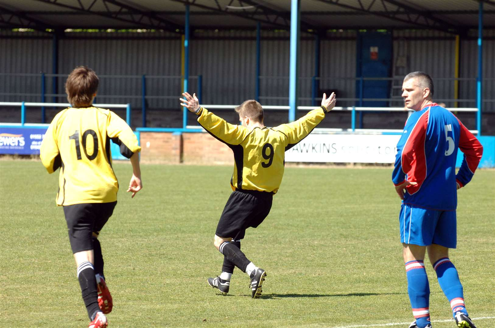 Action from the Lynn Sunday League Cup final between Chilvers and William Burt.. (7625933)