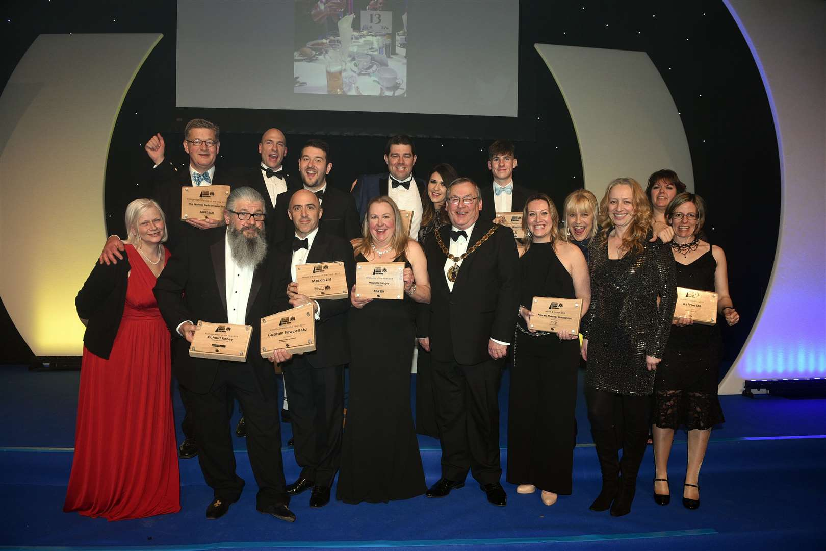 Mayor Business Awards at the Corn Exchange.....All winners. (7522386)