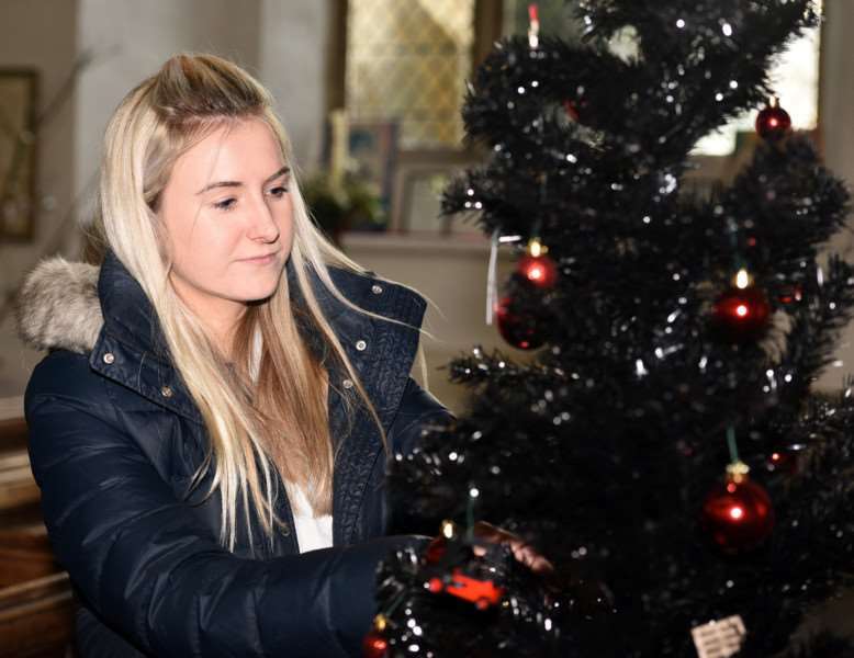 Christmas tree festival, St Clement's Church, Outwell''Emily Brown