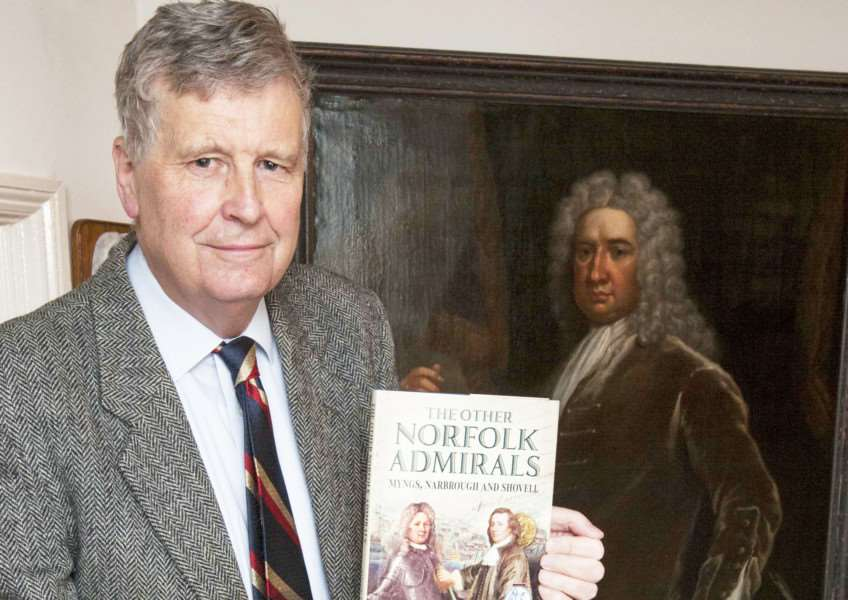 Clenchwarton King's Lynn Simon Harris has written and published new book. Pictured Simon at his home.