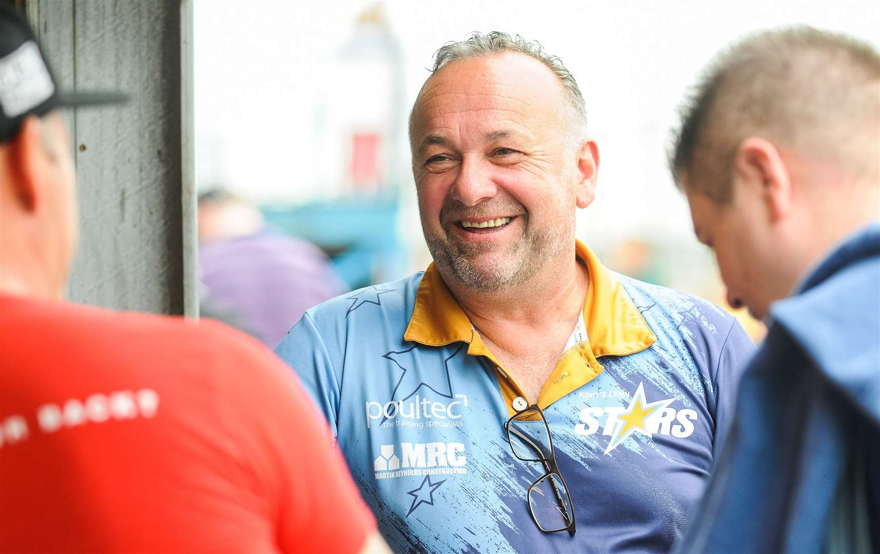 Stars boss Peter Schroeck all smiles before the meeting with table topping Belle Vue.. (12948012)