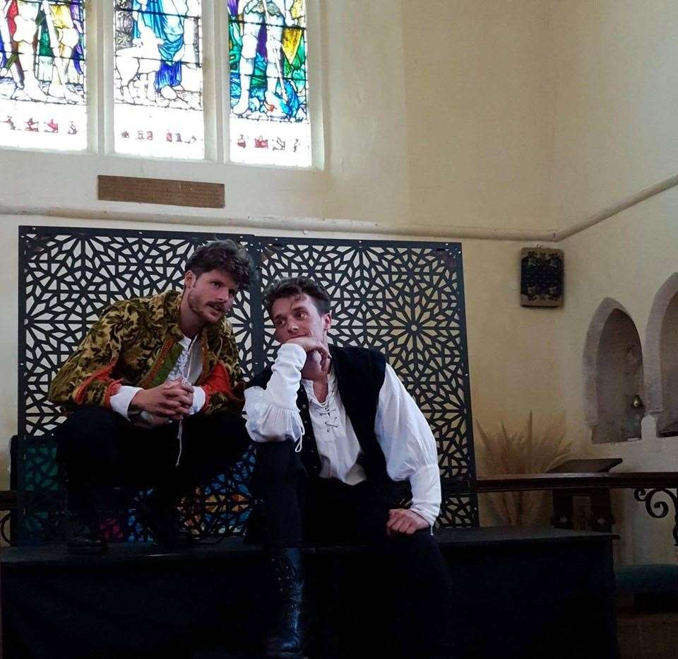 George Turner as Mercutio and Harry Boaz as Romeo