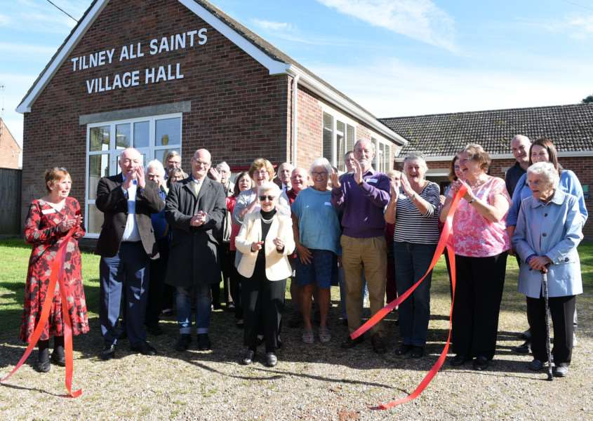 Opening of Tilney All Saints Village Hall by Sheila Young