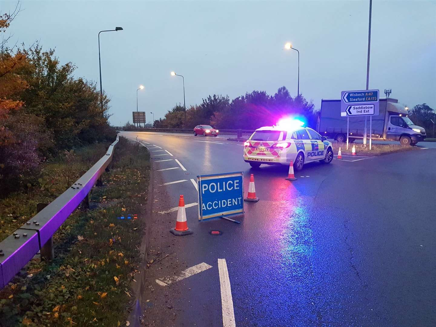 There has been an accident on the A47 this morning. Picture: King's Lynn Police
