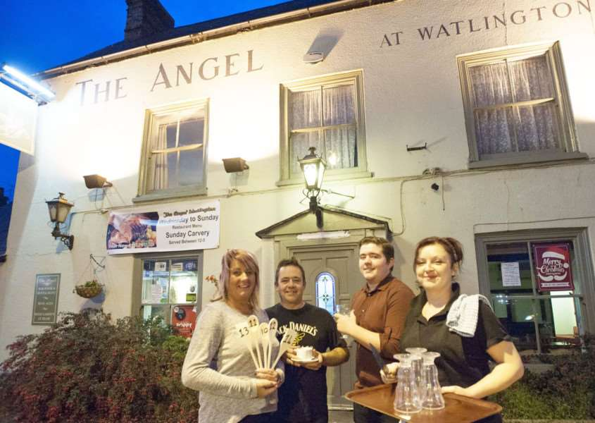 Refurbishment at the Angel Watlington. Pictured in the resturaunt FLtoR Sharon Ashman. Phillip Ashman. Jordan Ashman. Debbie Marshall.