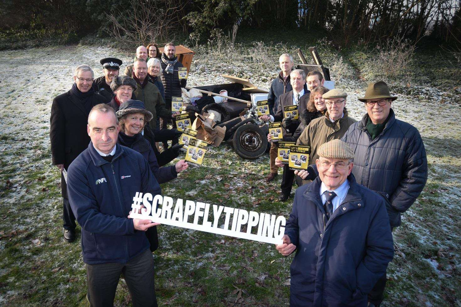 Launch of the Scarp fly-tipping campaign at Chapelfield Gardens in Norwich by Norfolk County Council along with other partners. (6962669)