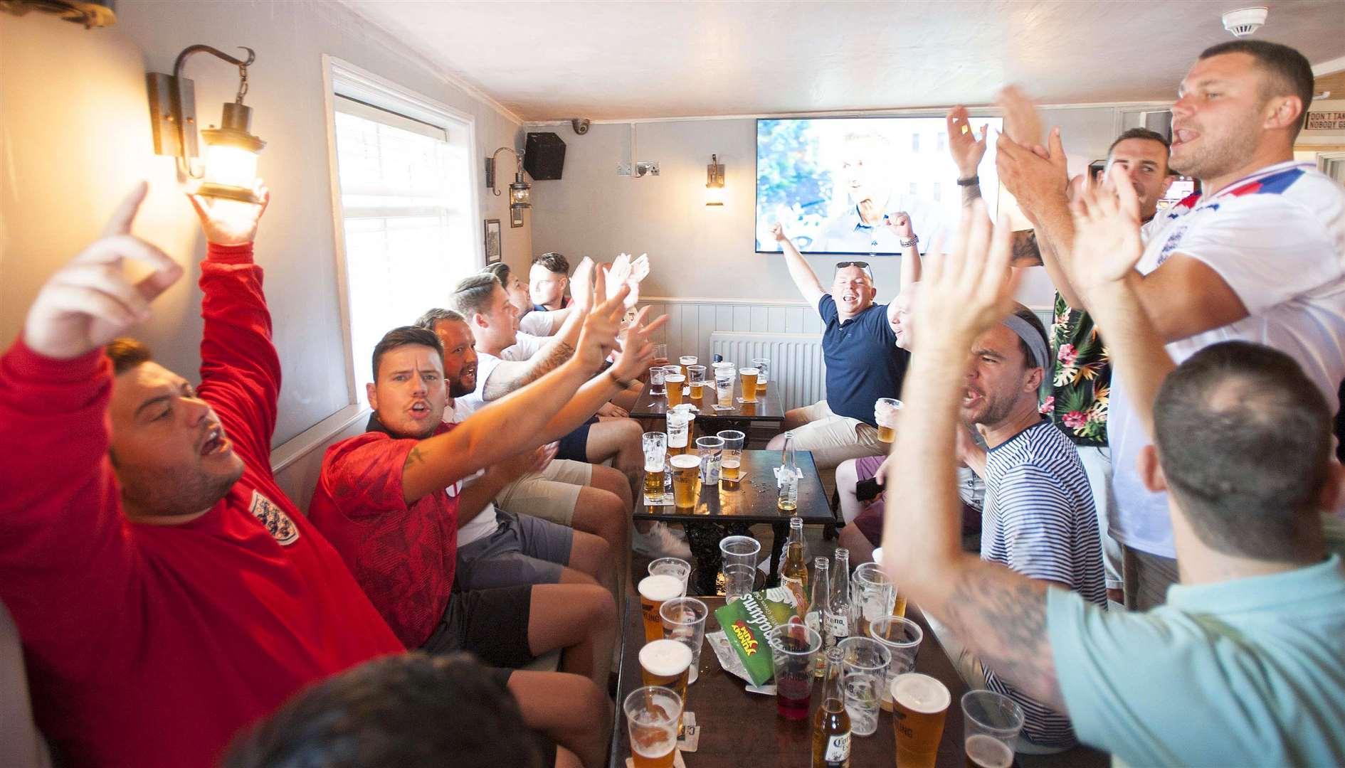 England v Sweden World Cup Quarter Finals Fans at The Lord Napier King's Lynn.. (2926732)