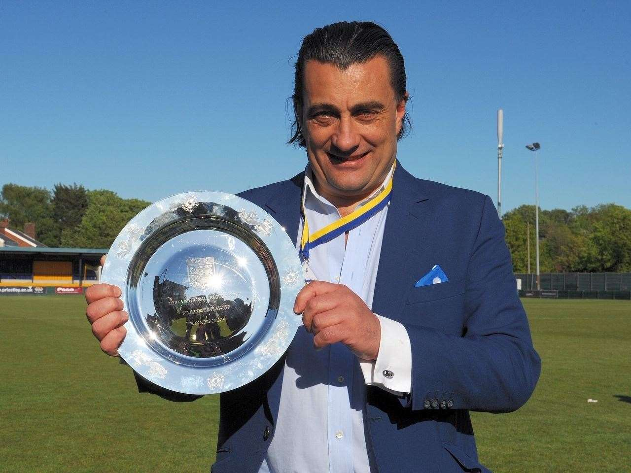 King's Lynn Town chairman Stephen Cleeve. Picture: Tim Smith. (10123179)