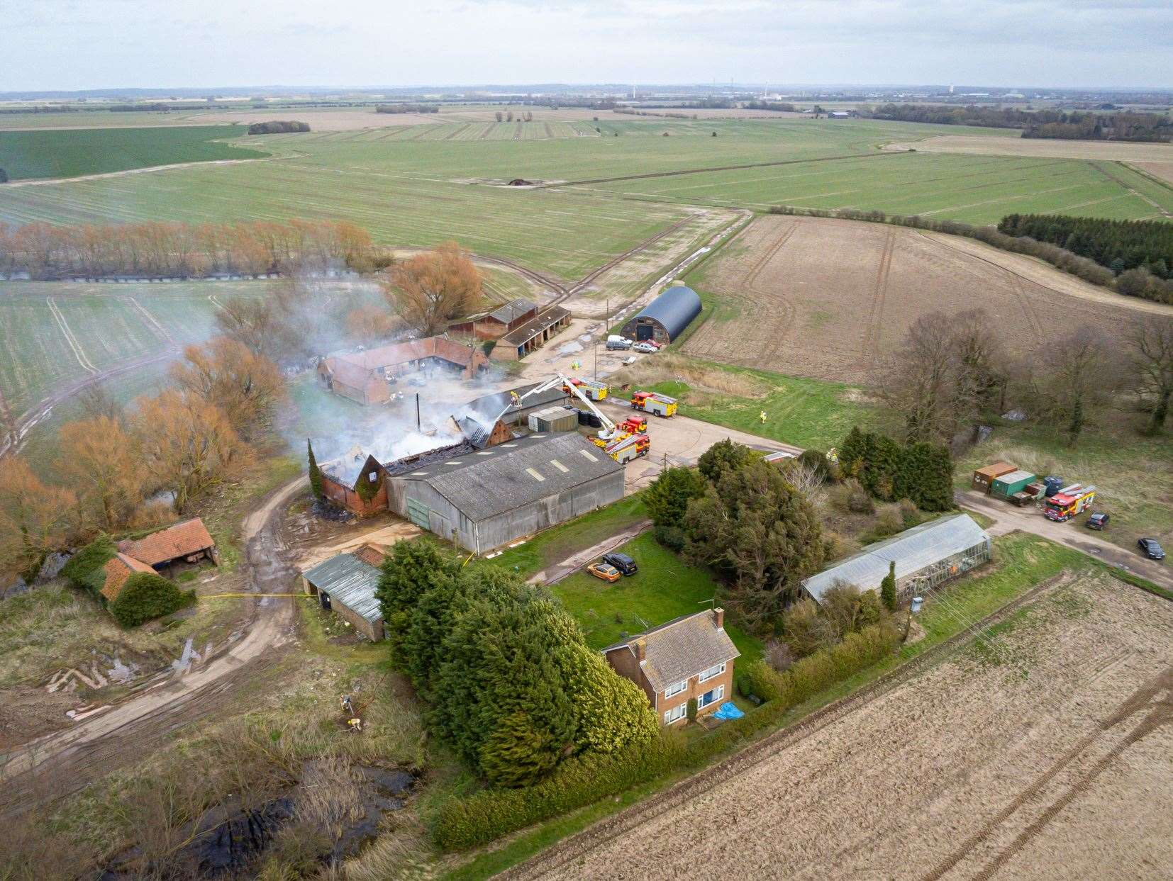 Flashback to March 2020 when firefighters attended a large agricultural fire at a farm building off Rhoon Road in Terrington St Clement.