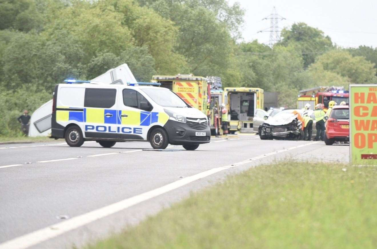 The scene on the A47 this afternoon (11392654)