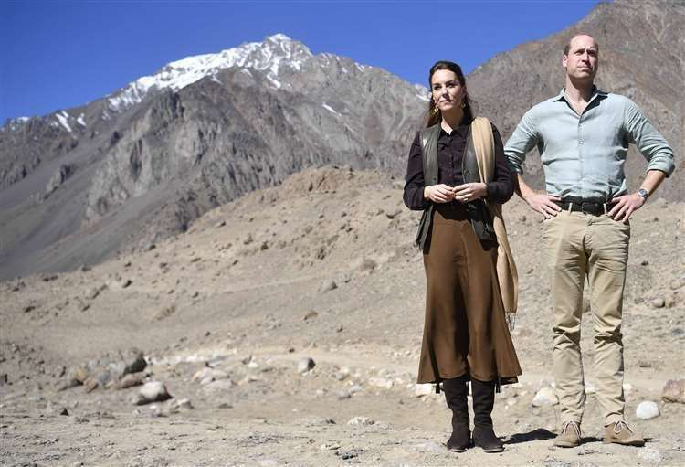 William and Kate visiting the Chiatibo glacier in the Hindu Kush mountain range to learn about the effects of climate change (Neil Hall/PA) (42547929)