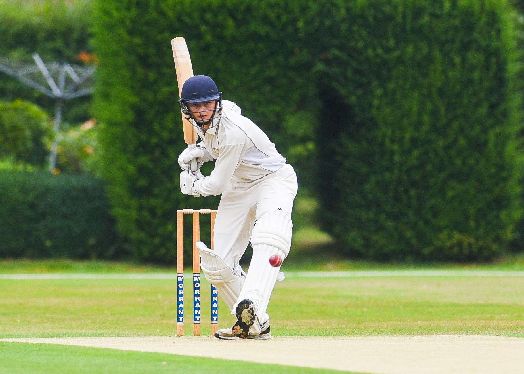 Freddie Fairey at the crease for Downham Stow.. (40632421)