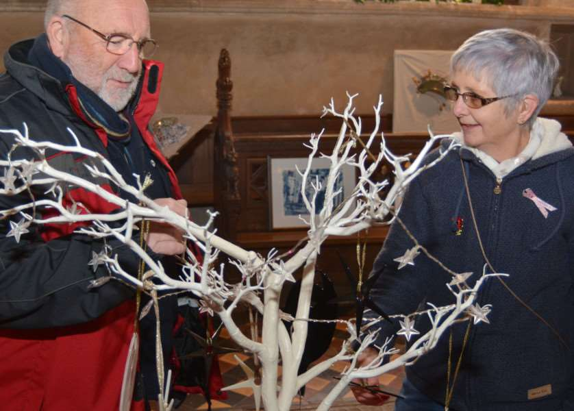 HARPLEY CHURCH ANGEL FESTIVAL'Des and Sue Mallow admire a stars and angel tree