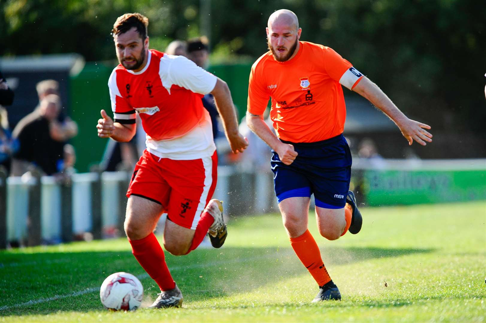 Diss, Norfolk, 19/09/2020..Football action from the FA Vase between Diss Town FC v Fakenham Town - Kyle Baker..Picture: Mark Bullimore Photography. (42328599)