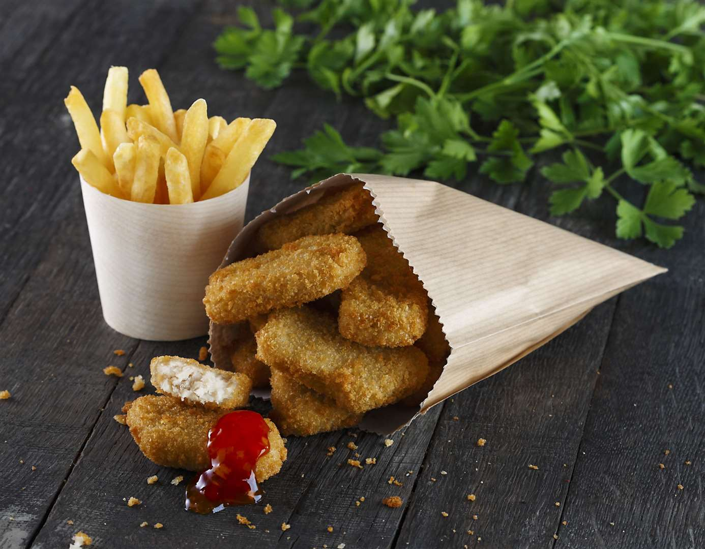 A leading food brand is offering a year's supply of chicken nuggets for meat-lovers in King's Lynn but there's just one catch – they have to pledge to swap their favourite meat dish for a plant-based alternative once a week. (42616456)
