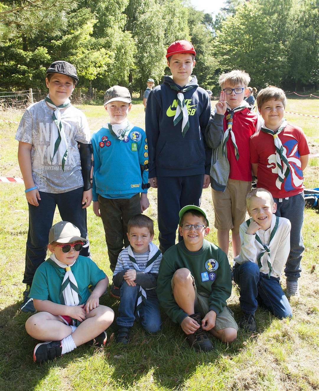 The 5th King's Lynn Scout Group celebrating 50th anniversary with family activities. PicturedScout Group at Wolverton Campsite. (2084491)
