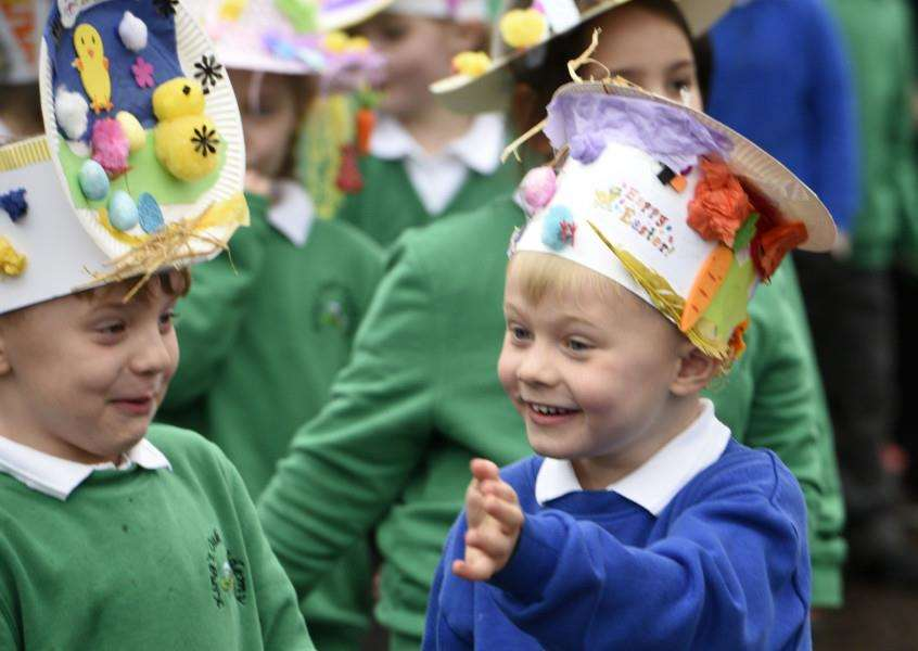 Easter Hat Parade at King's Oak Academy