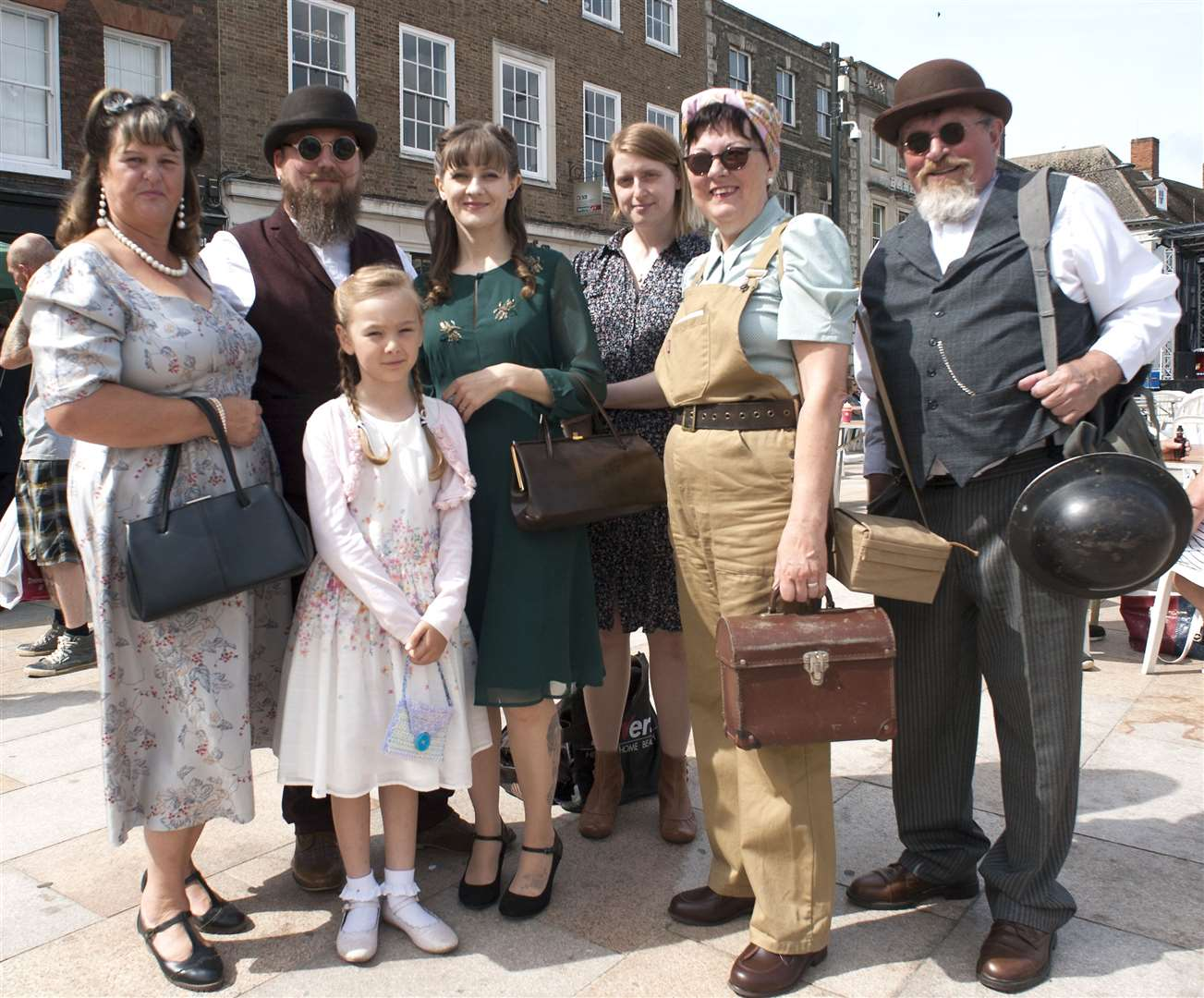 Forties Lynn. Life On The Home Front. Pictured Some of the King's Lynn Steampunk Society.. (14085476)
